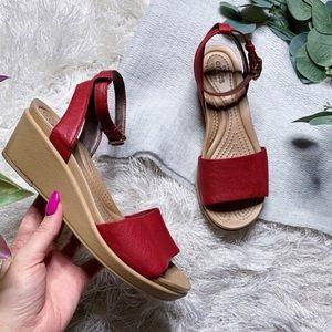 Crocs Ankle Strap Wedge Sandals